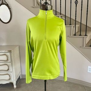 Nike Golf Therma Fit 1/2 Zip Pullover Top Neon
